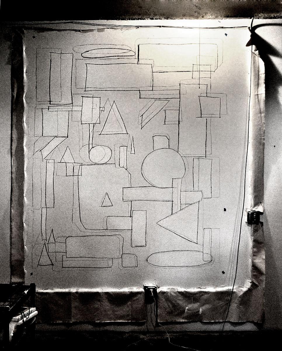 Deep Six charcoal sketch