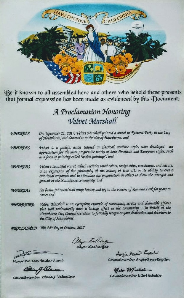 Proclamation Honor   Hawthorne, CA. 2017