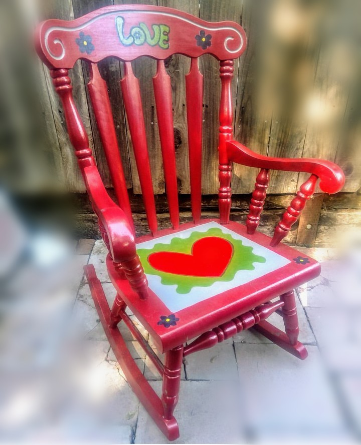 """Love Rocker"" Rocking Chair"