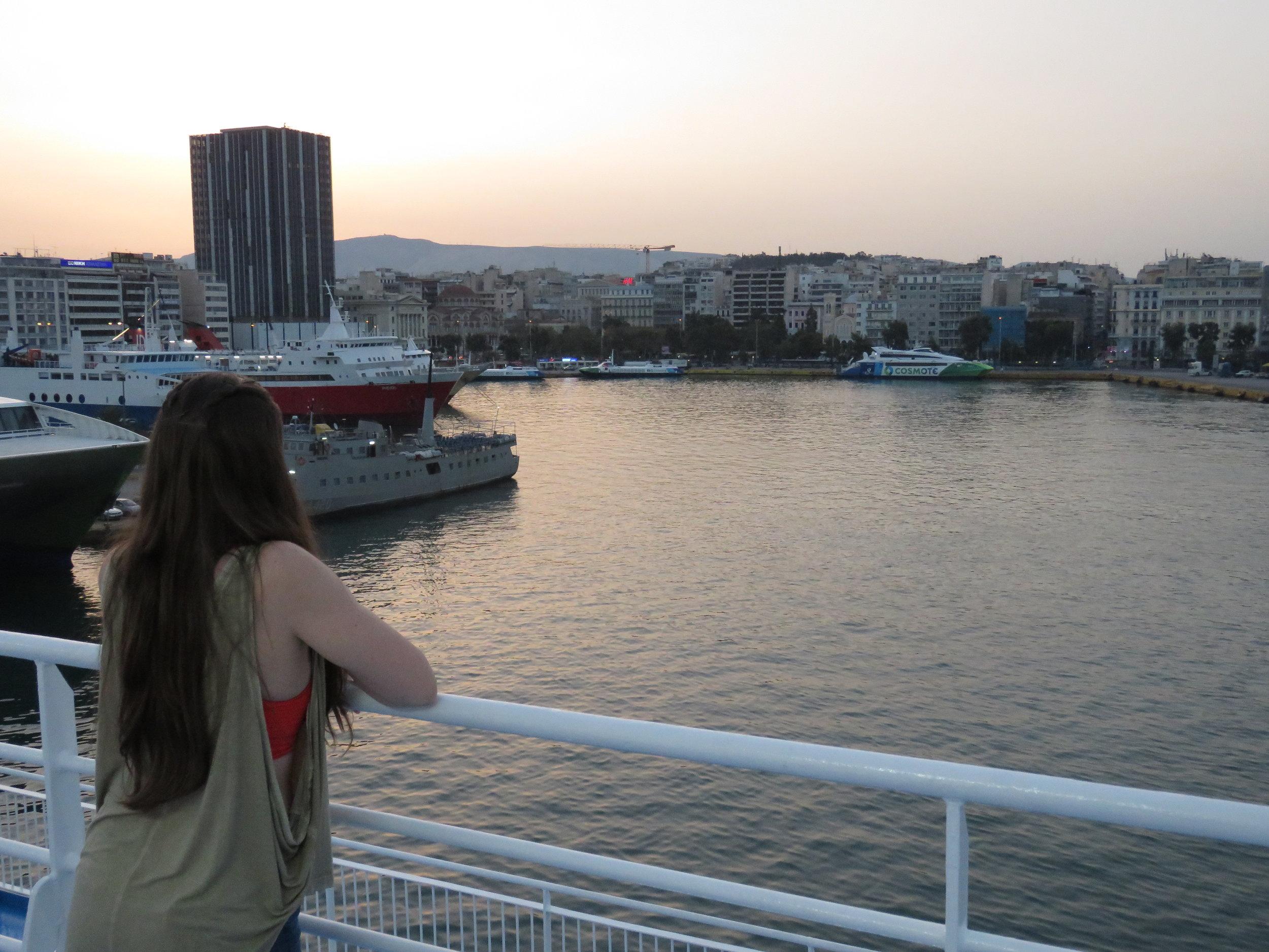 7am at Piraeus Port | Photograph by Alexander Bateman
