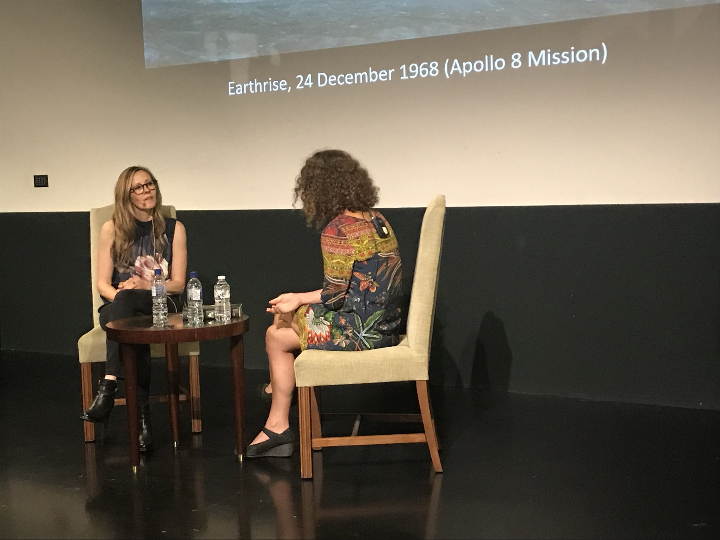 Andrea Wulf and Gaia Vince in discussion | Credt: Talita Bateman