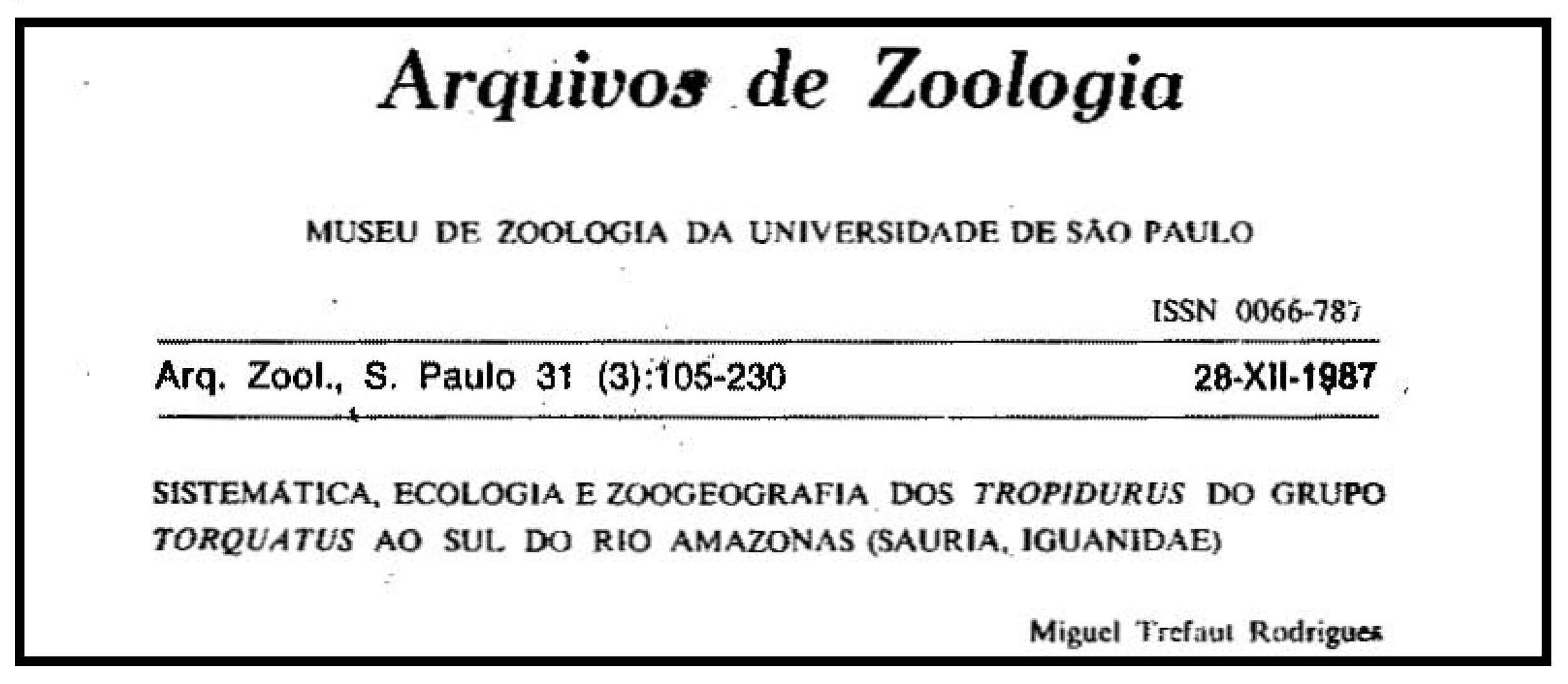 Rodrigues' original 1987 paper in Portuguese.