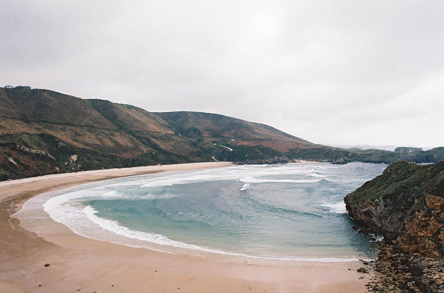 Torimbia is one of the most scenic beaches in northern Spain