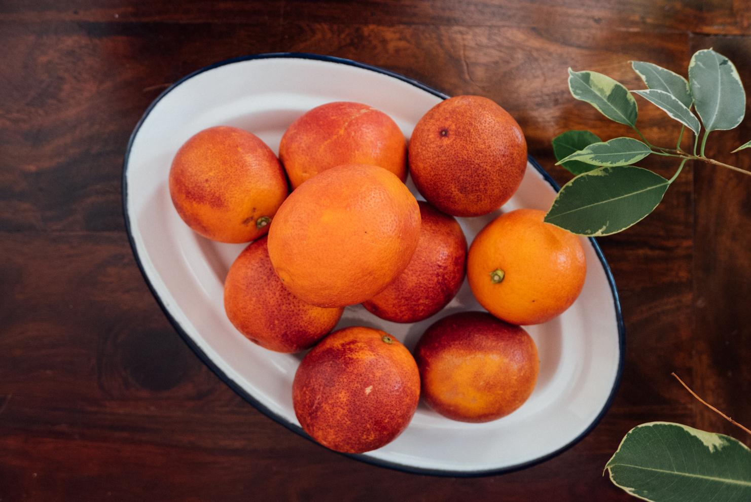 Orange, requesón & cornflour cake