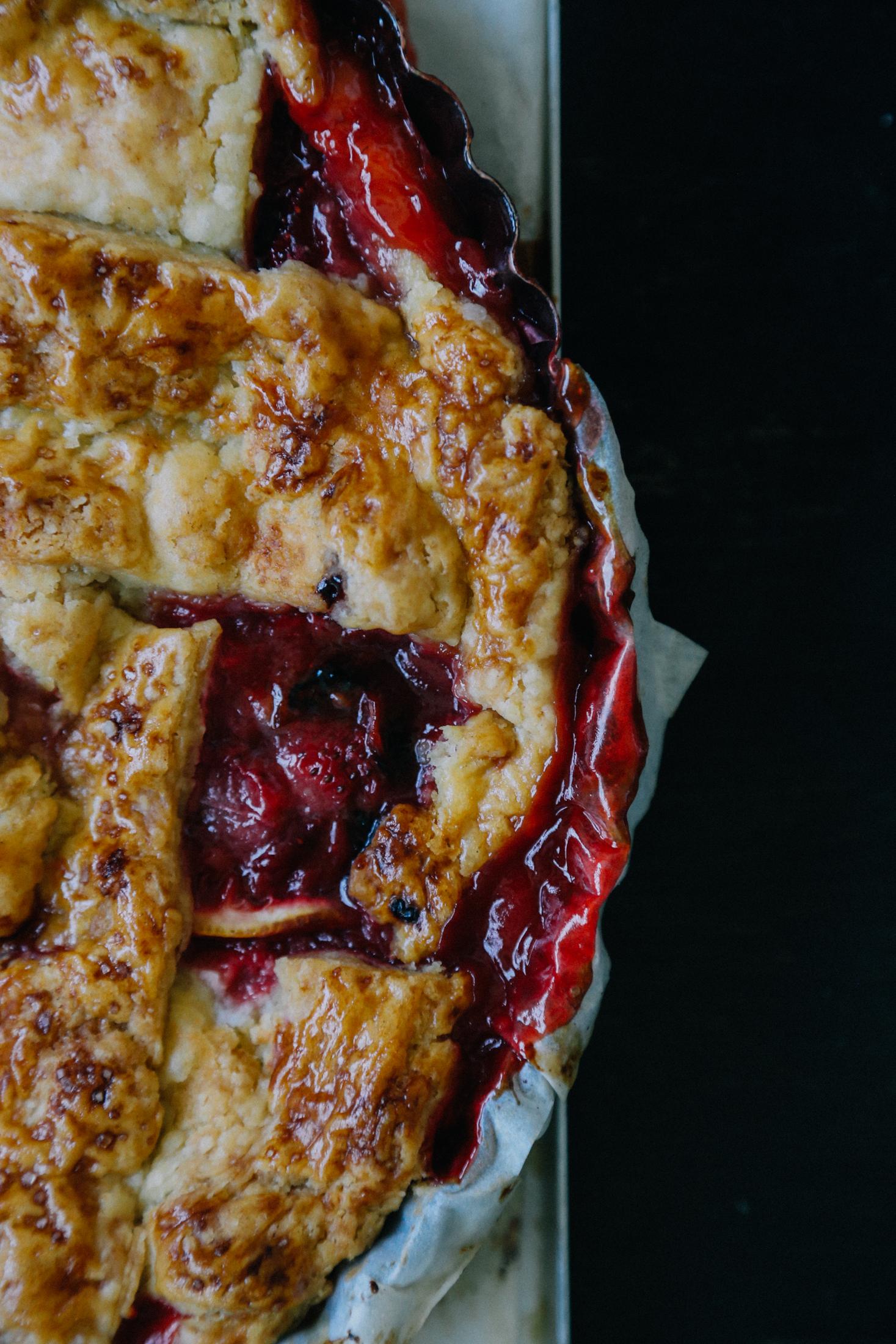 Strawberry and Lemon Pie | Monica R. Goya