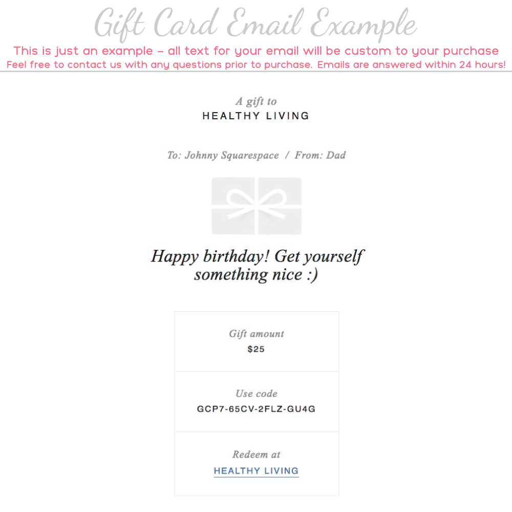 various amounts available Gift voucher for my Etsy shop