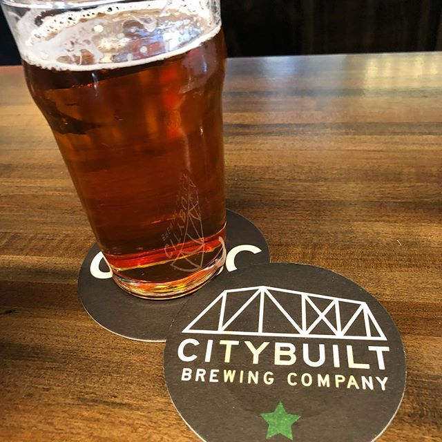 Friday afternoon brewery stop! Enjoying a Crystal Sesh made with hops from the farm! As always thanks to @citybuilt for supporting local! #cbbc #citybuiltbrewingcompany #crystal #puremittenhops #greatbeerstartshere