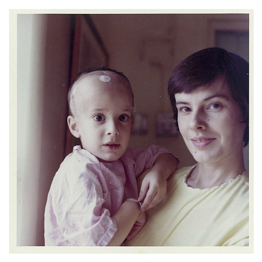 David, pictured with his mother