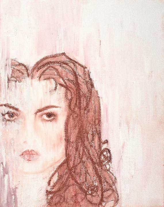 Self Portrait by Shannon Nissa Bailey Powers Infinitely Loved and Loving January 1, 1979-Midnight, November 17, 2003 Painted at Boston Children's Hospital November, 2003