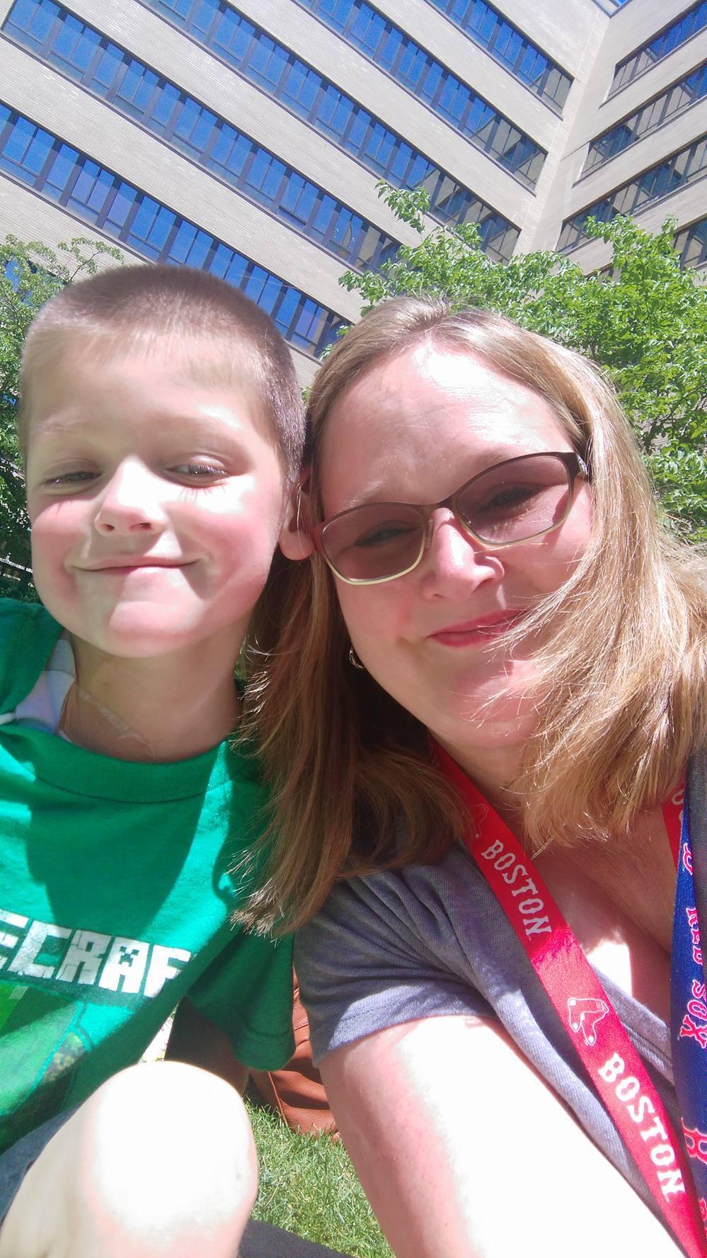 Owen and his mom, Kristina