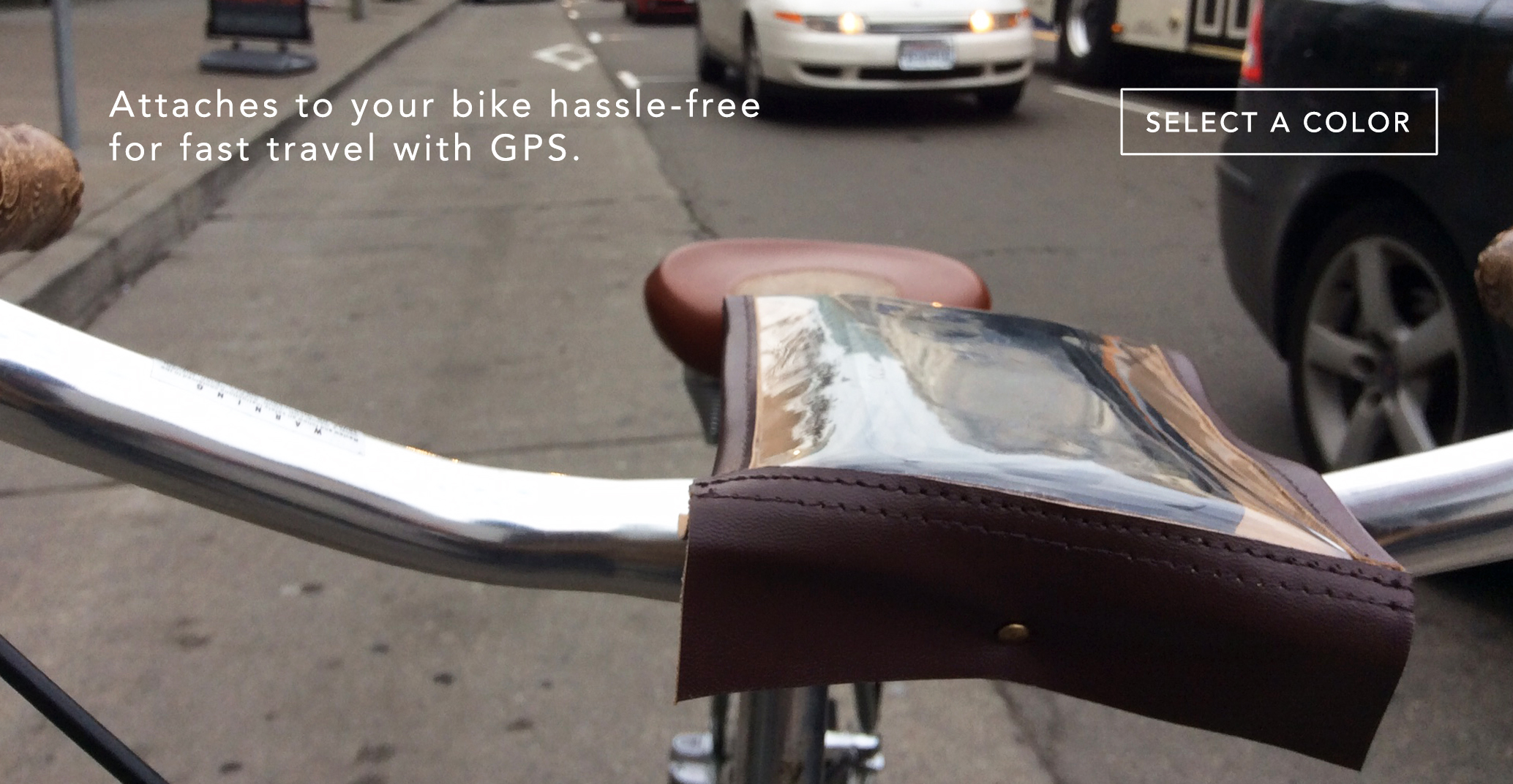 Order a universal smartphone holder for bicycles.