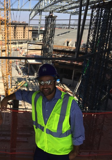 Kunal Merchant touring construction of the Golden 1 Center and the Downtown Commons in 2015 during his time as a Sacramento Kings executive. The $1.5 billion dollar project includes a LEED Platinum NBA arena, hotel, and retail and entertainment district that has been the primary catalyst behind the new economic and cultural renaissance unfolding in Sacramento's long-struggling downtown core.