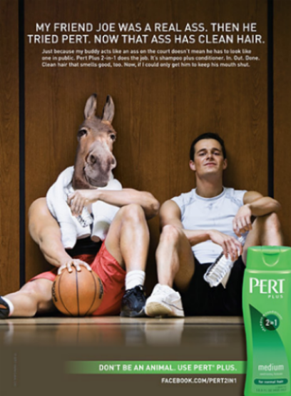 Pert Plus Animals Print Ad - Ass
