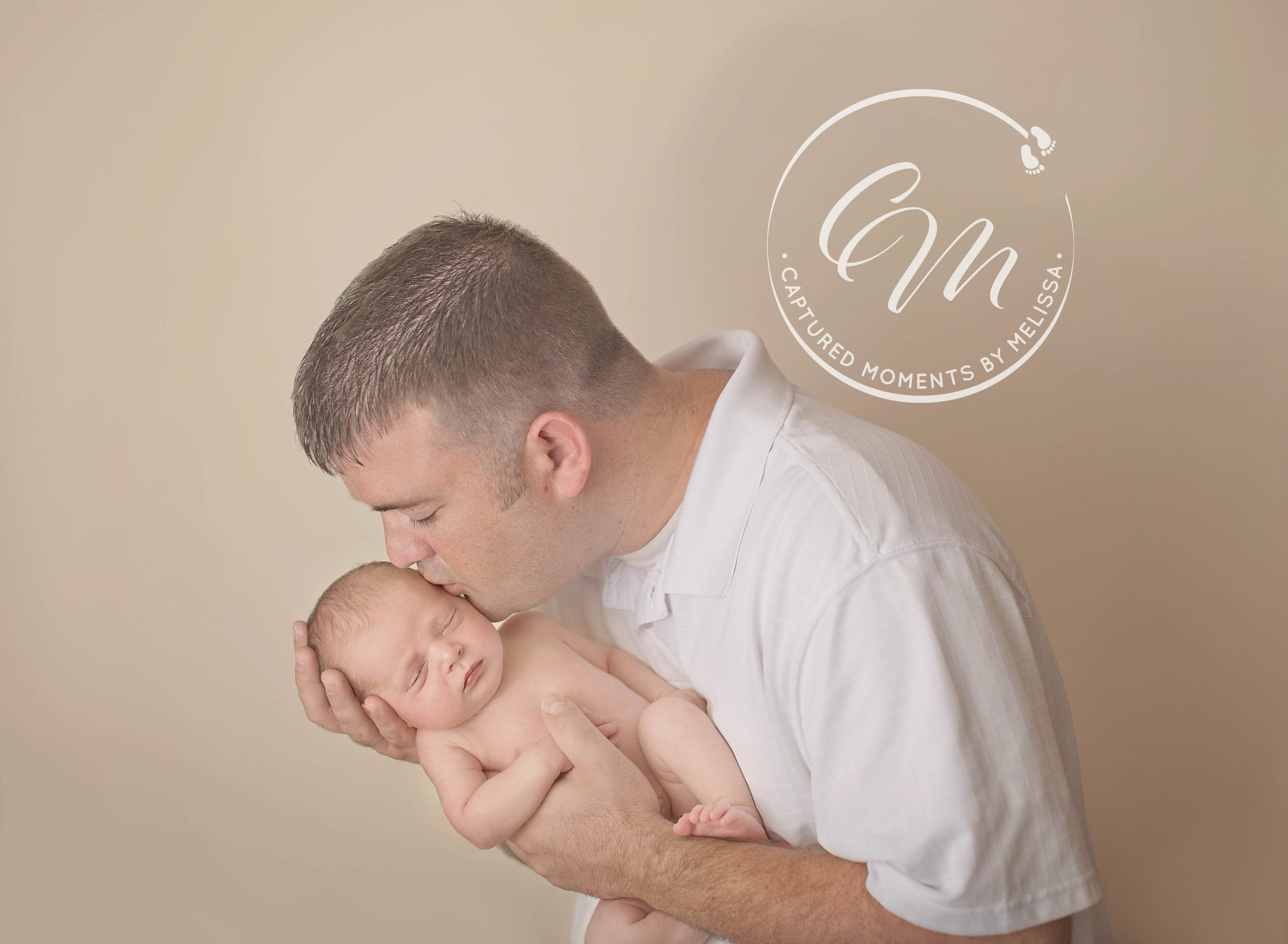 Newborn Boy With Daddy | Newborn Photographer Kansas City Missouri