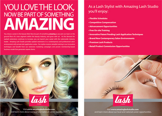 Amazing Lash Studio Recruitment Flyer