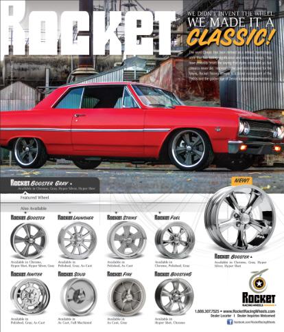 Rocket Racing wheels ad