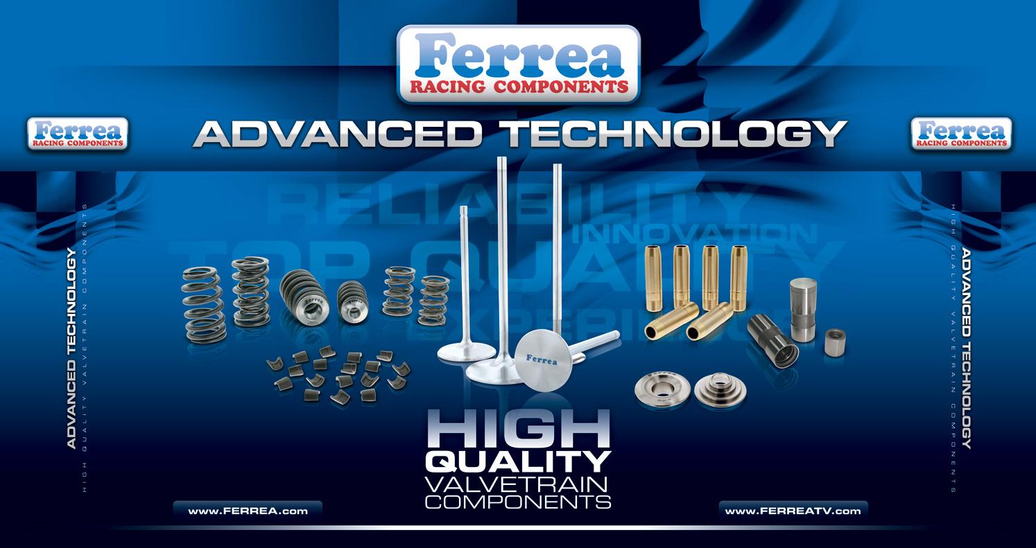 Ferrea Racing tradeshow display