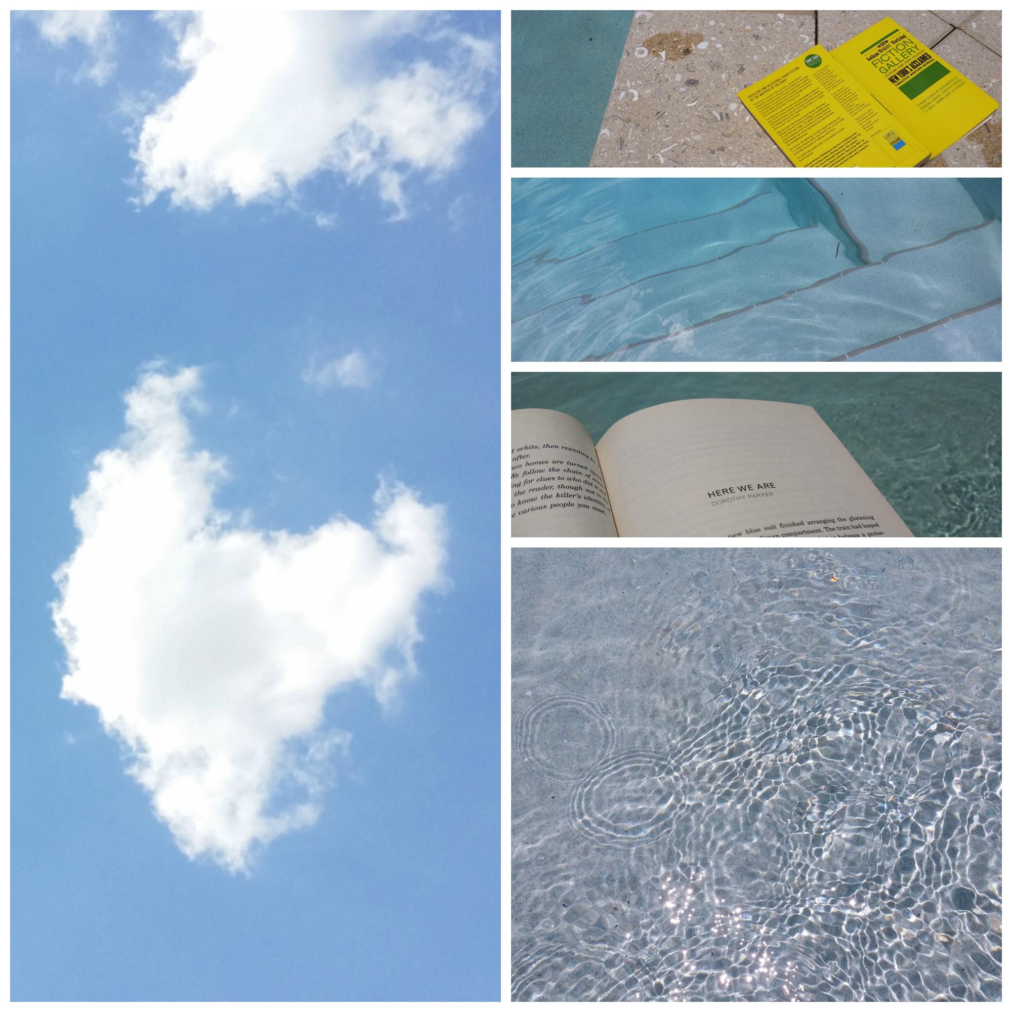 blue skies yellow book