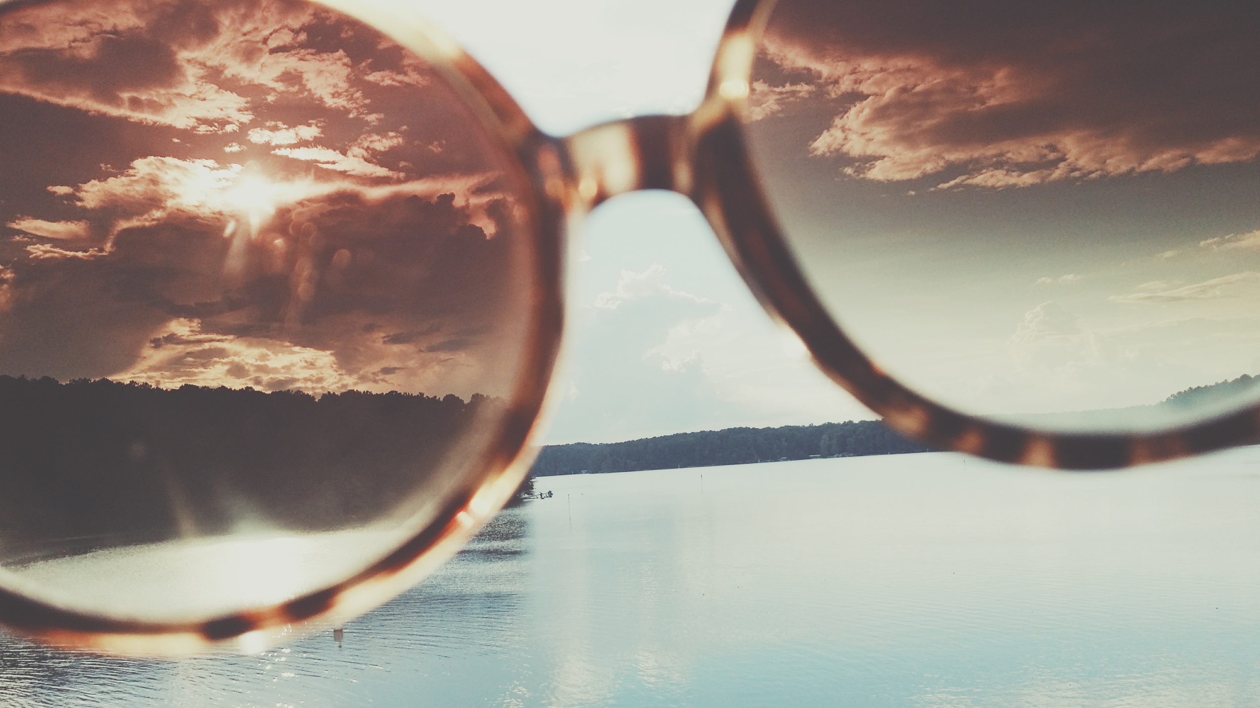 sunglasses at the lake