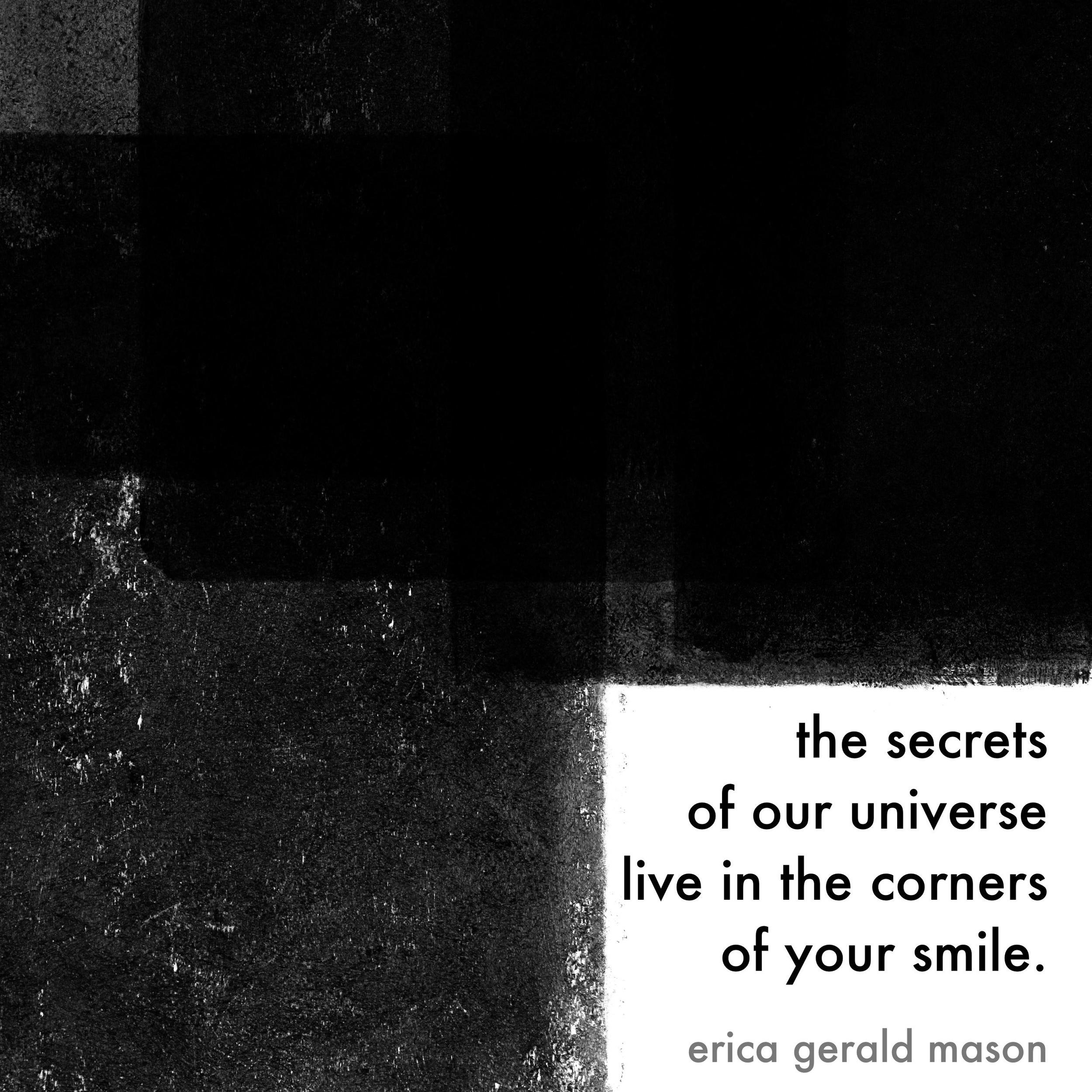"universal secrets    poem print, 8"" x 10"", pdf s."