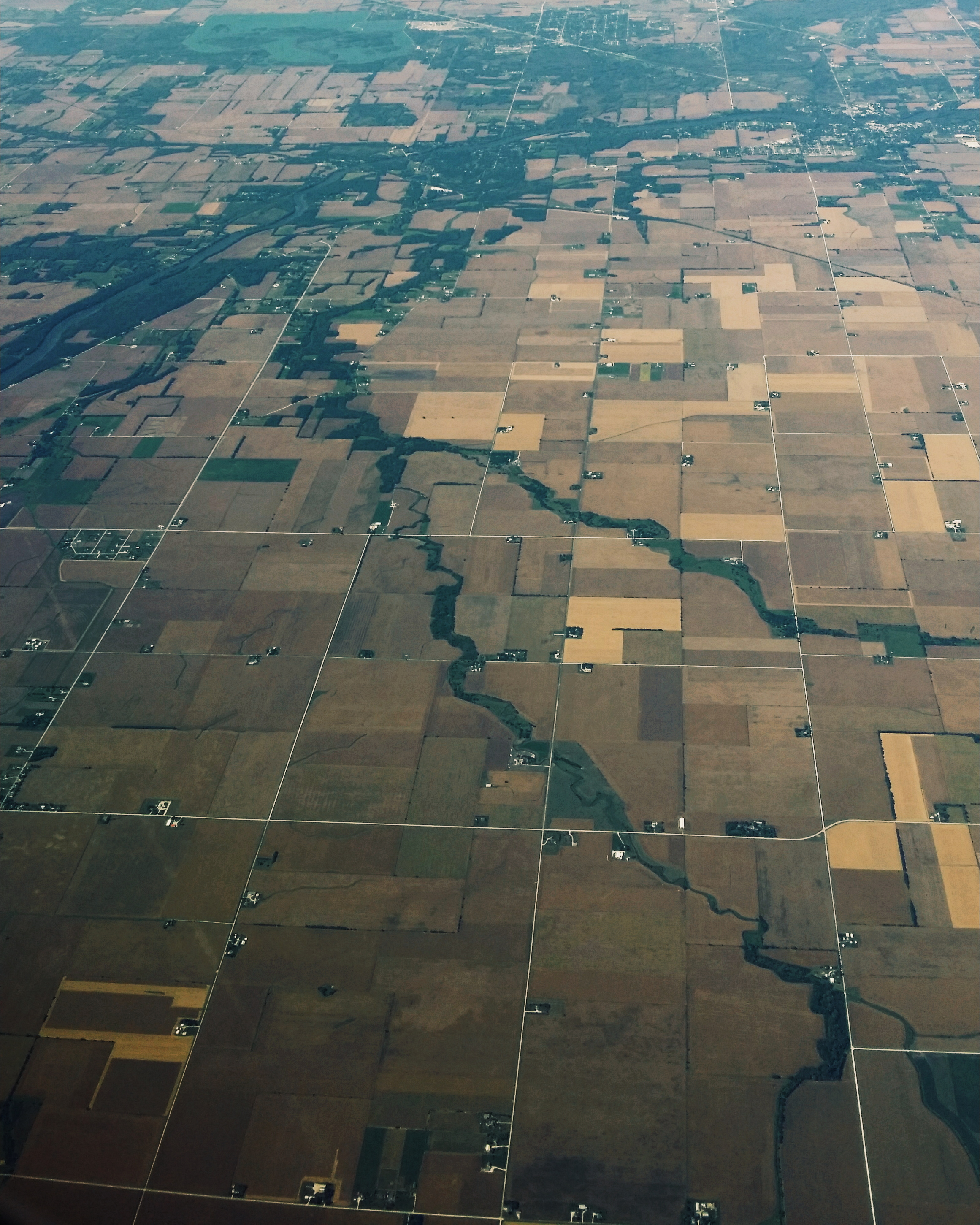 aerial photo farmland indiana