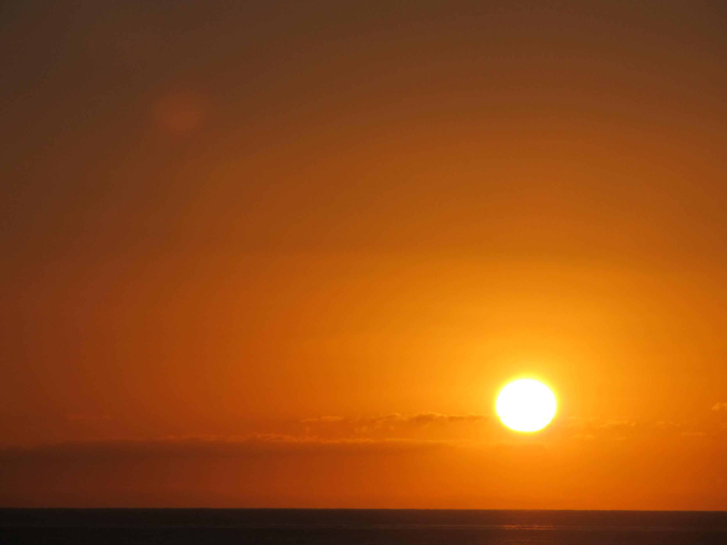 orange sunset at sea
