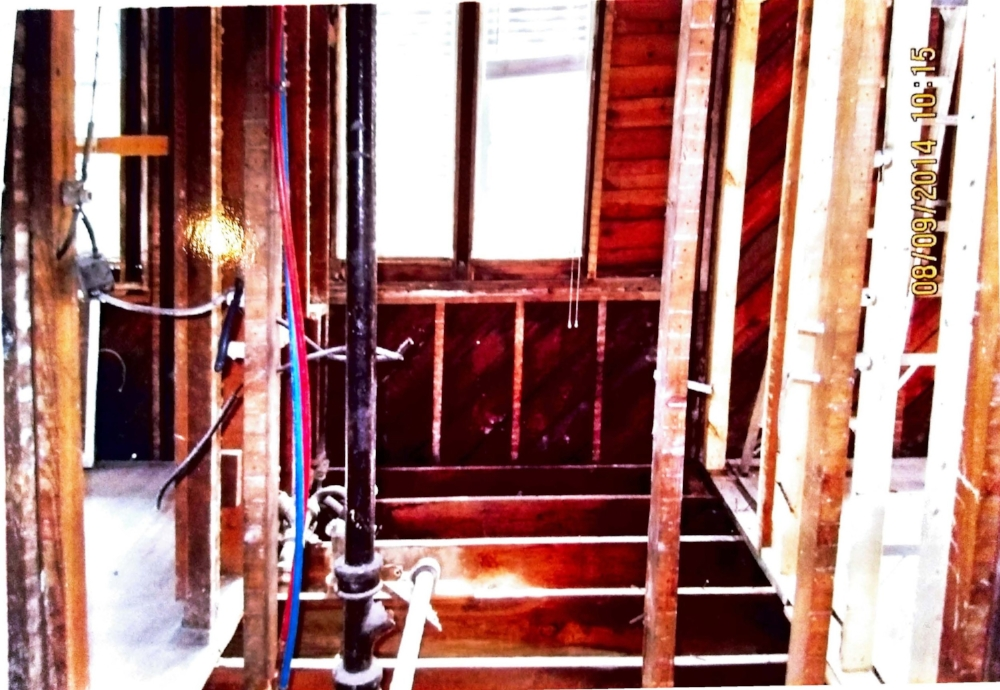 The entire interior of the house was taken down to the studs!