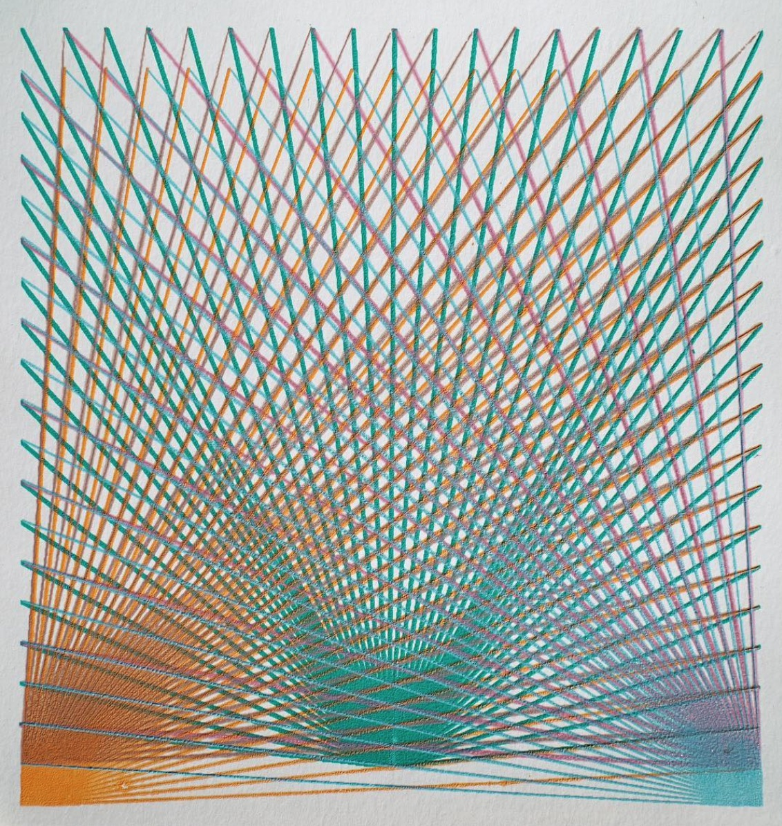 Signal Flare 2  (2018), acrylic on paper, unique screen print, 20 x 20 cm