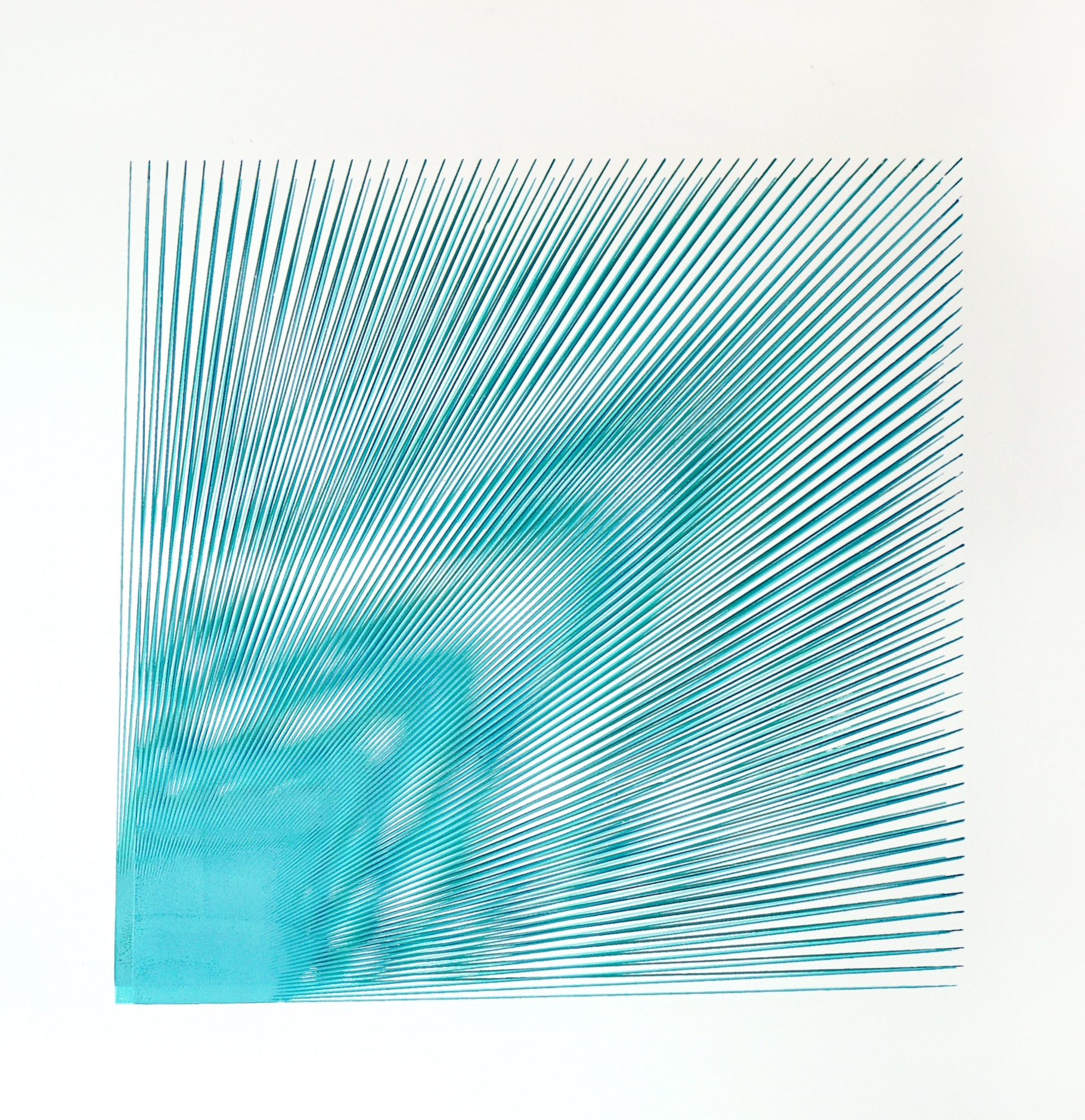 'Rupture 1' (2018), acrylic paint screen printed on paper, image size within larger sheet of paper 50 x 50 cm