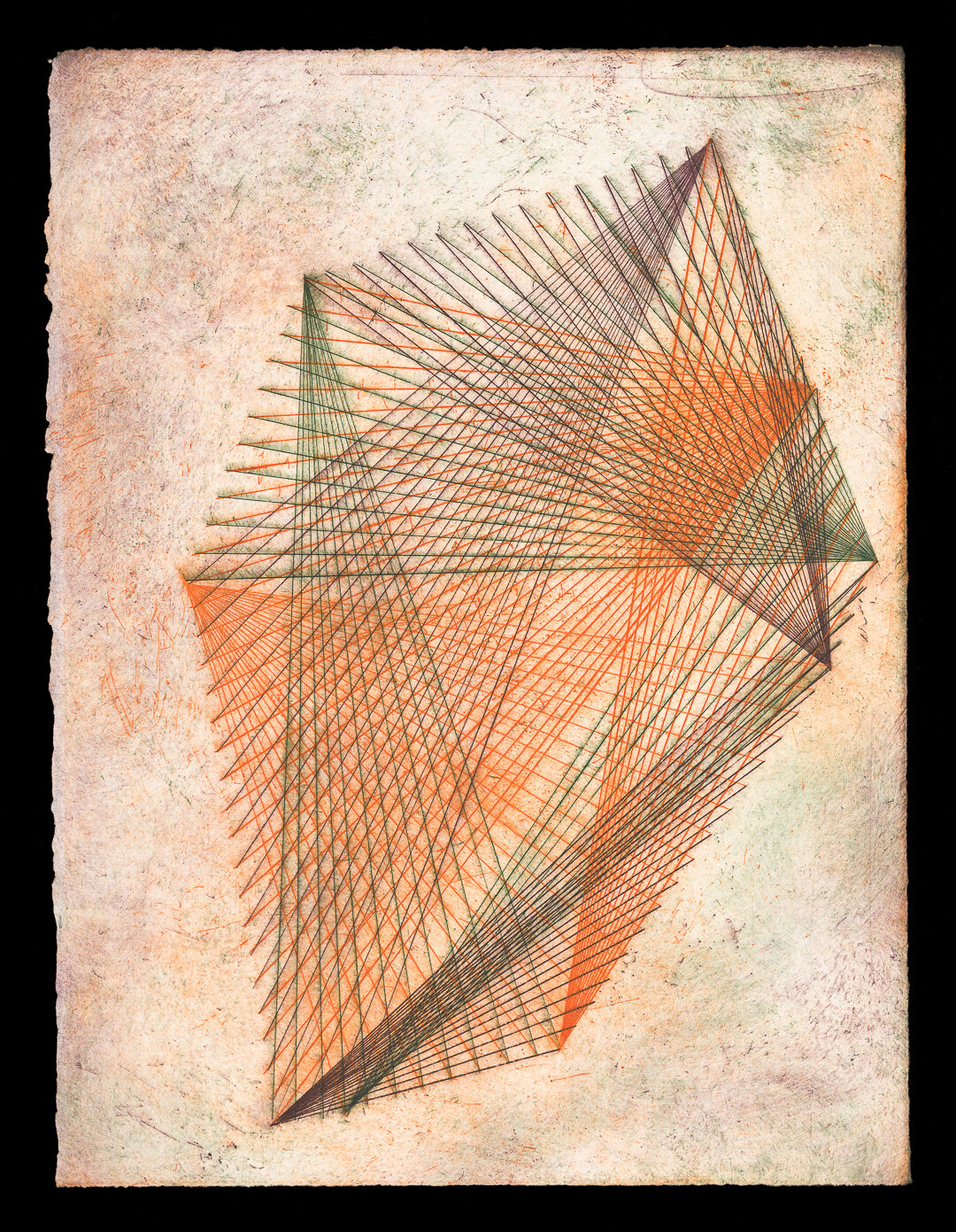 Net 2 (2019), three plate etching, edition 2/5, 38 x 29 cm