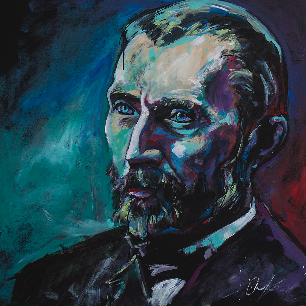 "Van Gogh   48""x48"" latex on canvas."