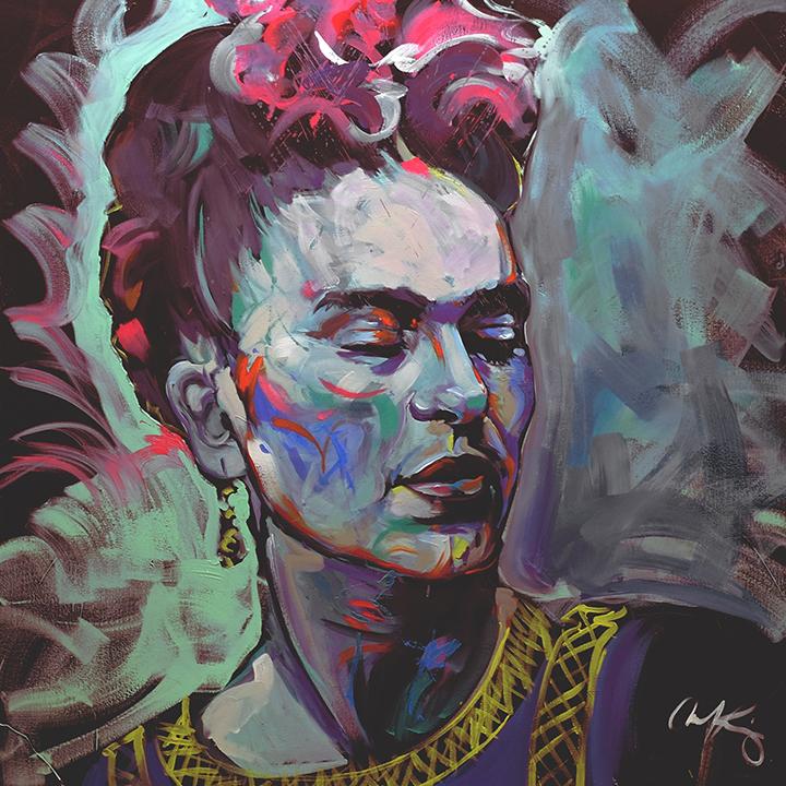 """Frida Kahlo   48""""x48"""" latex on canvas.."""