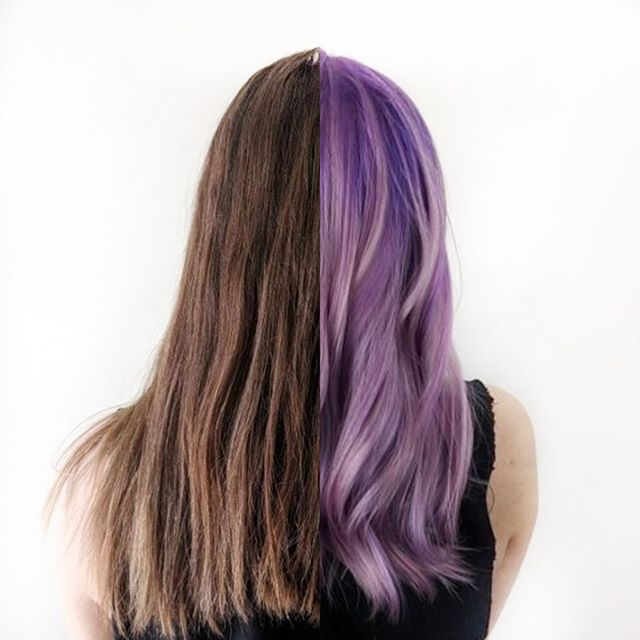 We love the message behind @leximariewright's new purple do. You can find out why she dyed it over at @vernmagazine 💜