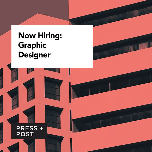 Putting out a call for creative minds! We're on the lookout for a sensational graphic designer to join our uber-talented design department. Share far and wide. Link in our bio for more info!