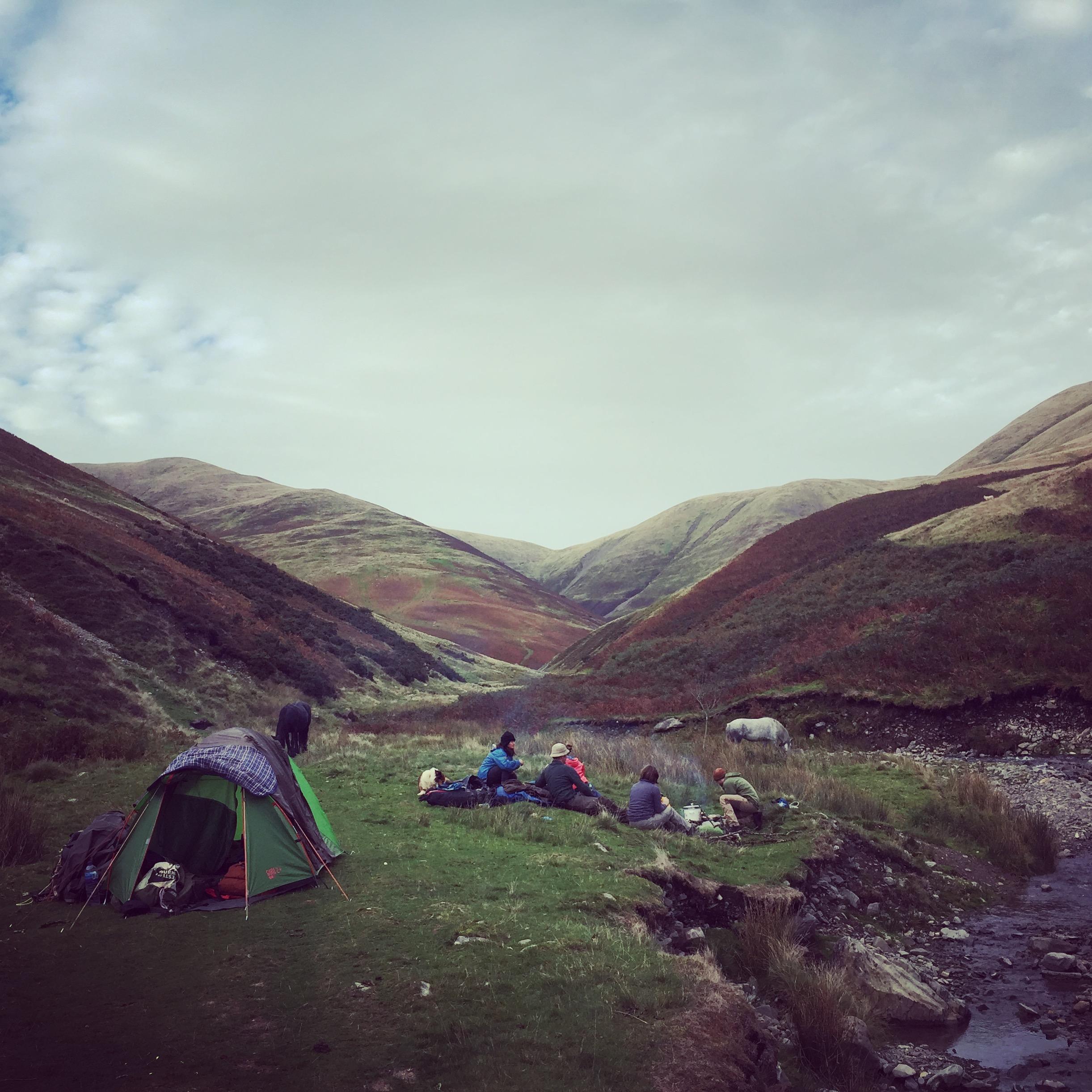 Camp 1 at the foot of The Calf (photo Tom LLoyd)