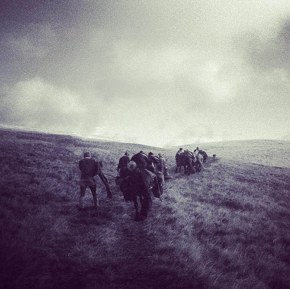 Leading a trek across the Howgill fells