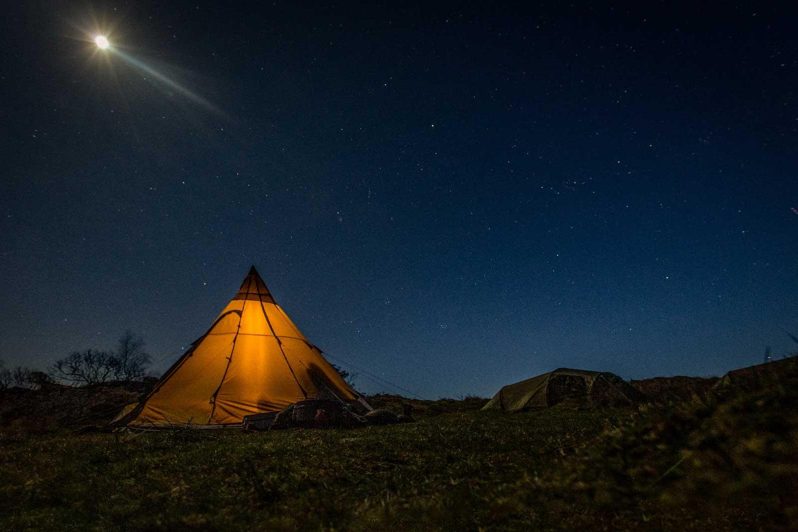 Wild camp under the stars