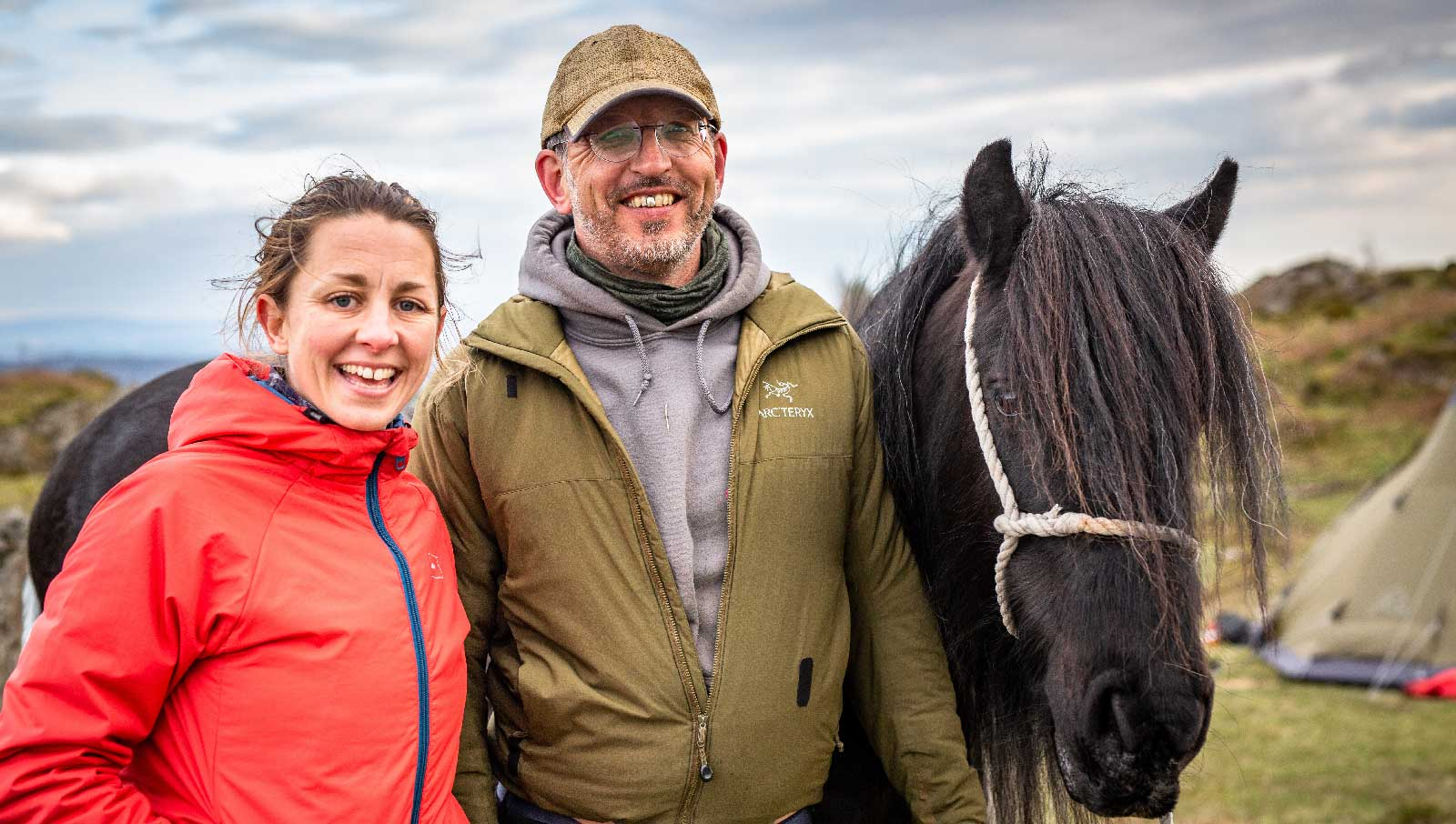 Mountain guides   Clare Dyson and Tom LLoyd     with Hades Hill Lucky Pearl
