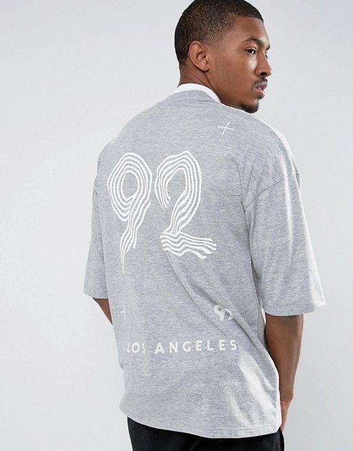 LA 92 Oversize Tee, ASOS Menswear, UK.
