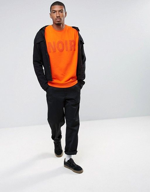 Noir Sweat, ASOS Menswear, UK.