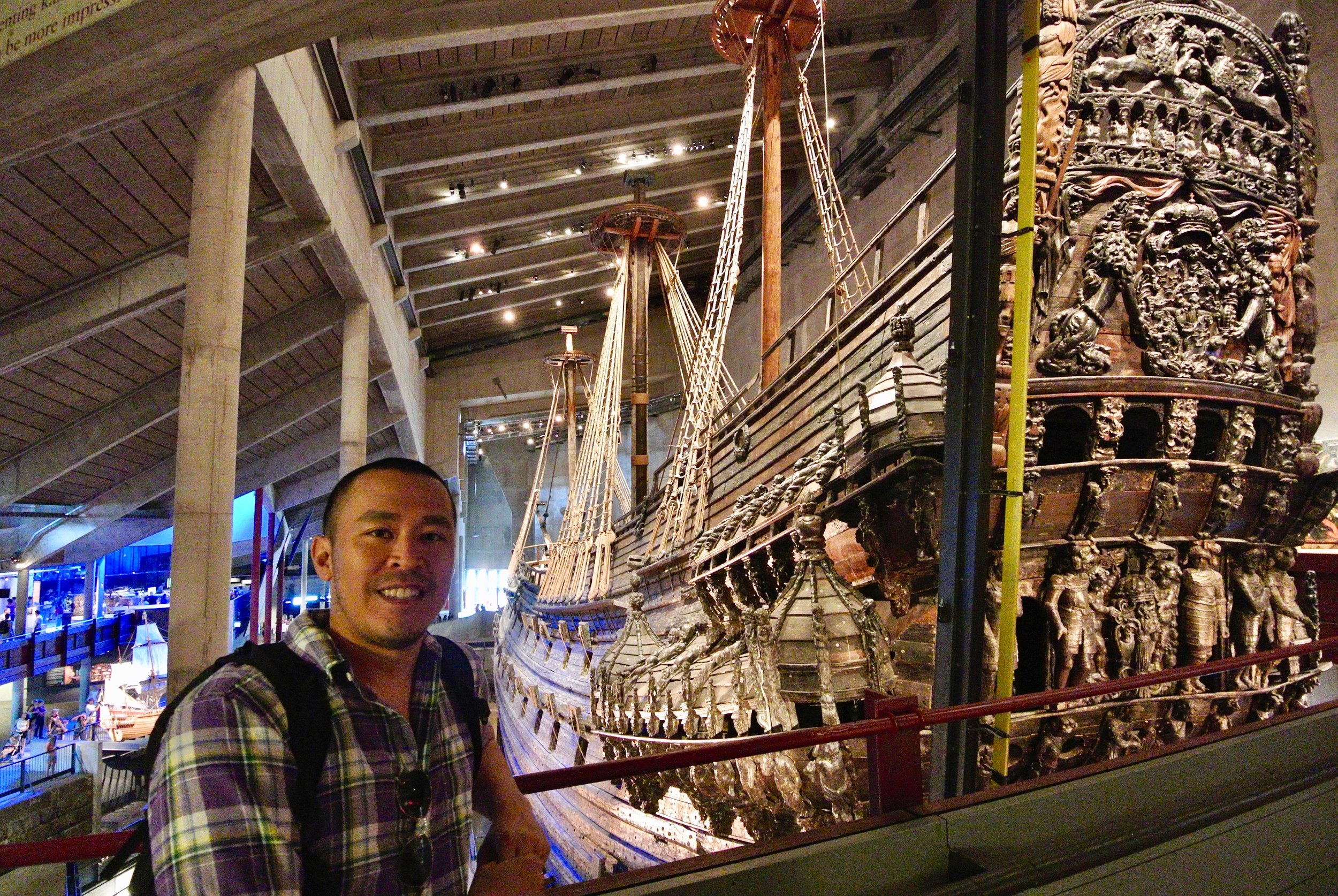 At the Vasa Museum, an elaborate ship that the king built that sunk 30 minutes into its maiden voyage.  They raised it 333 years after..jpeg