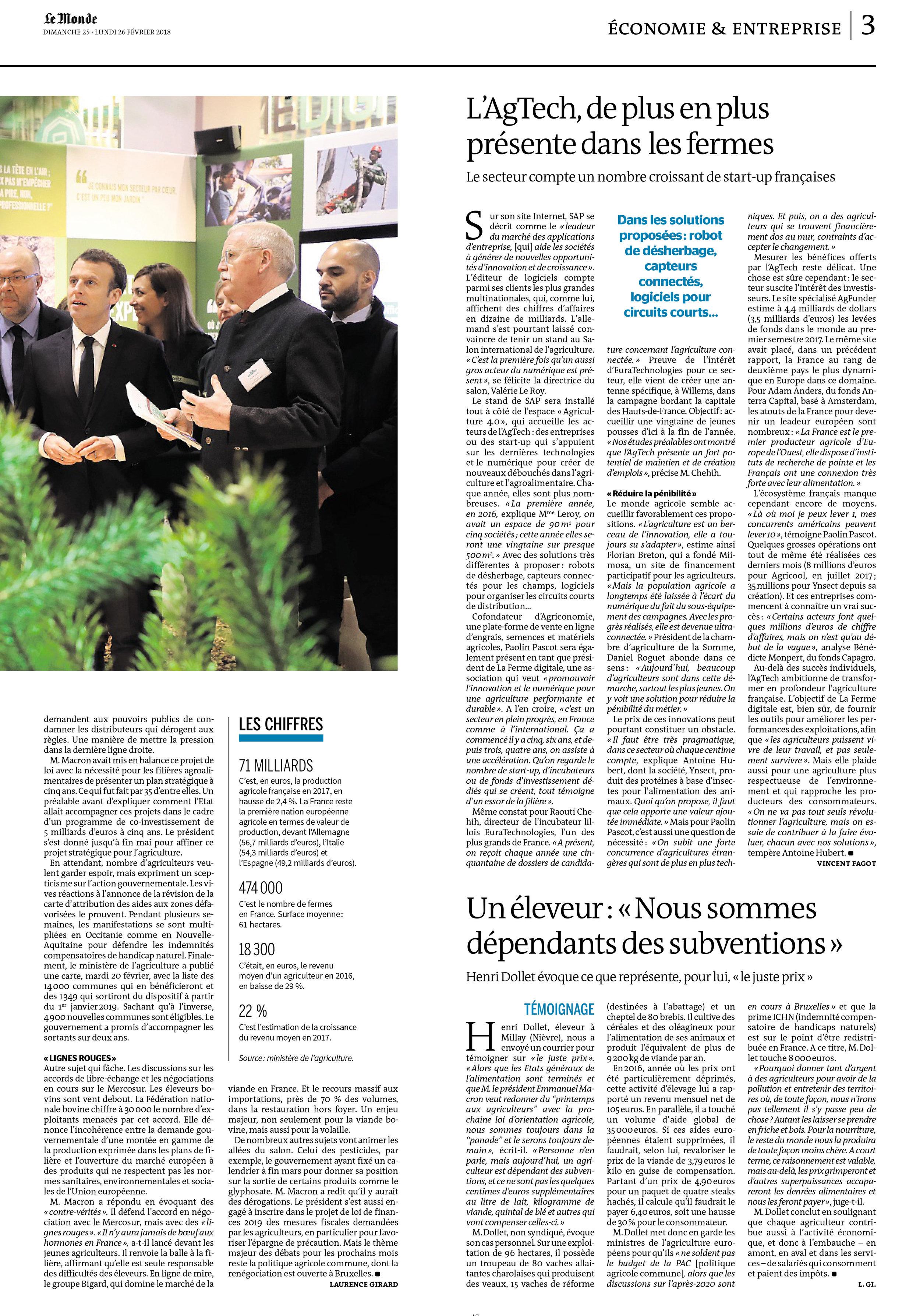 L'AgTech,deplusenplus Le Monde.jpg