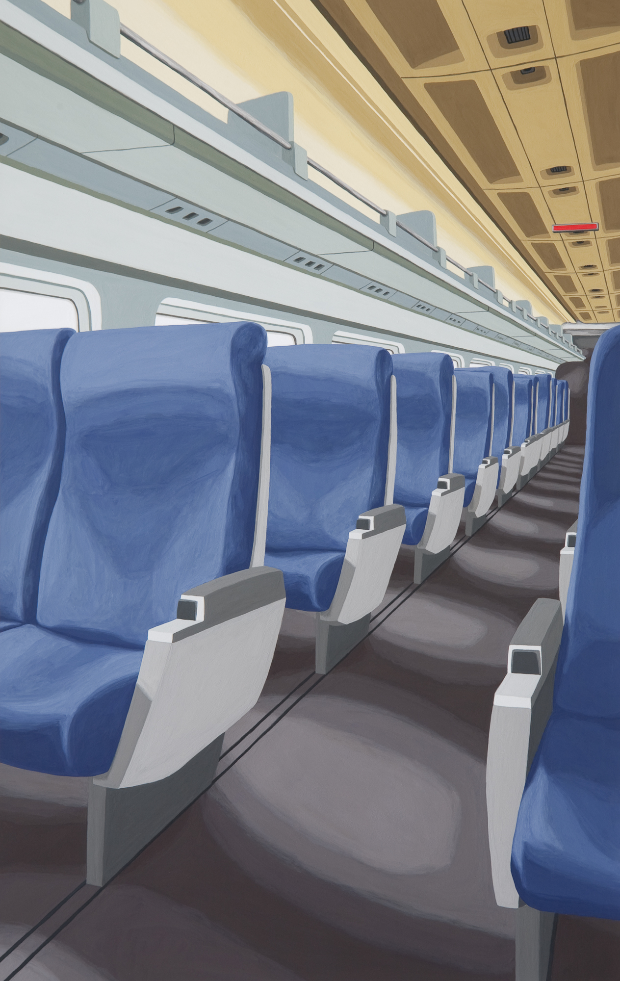Blue Train, 2010, Gouache on Paper, 15 X 22 inches