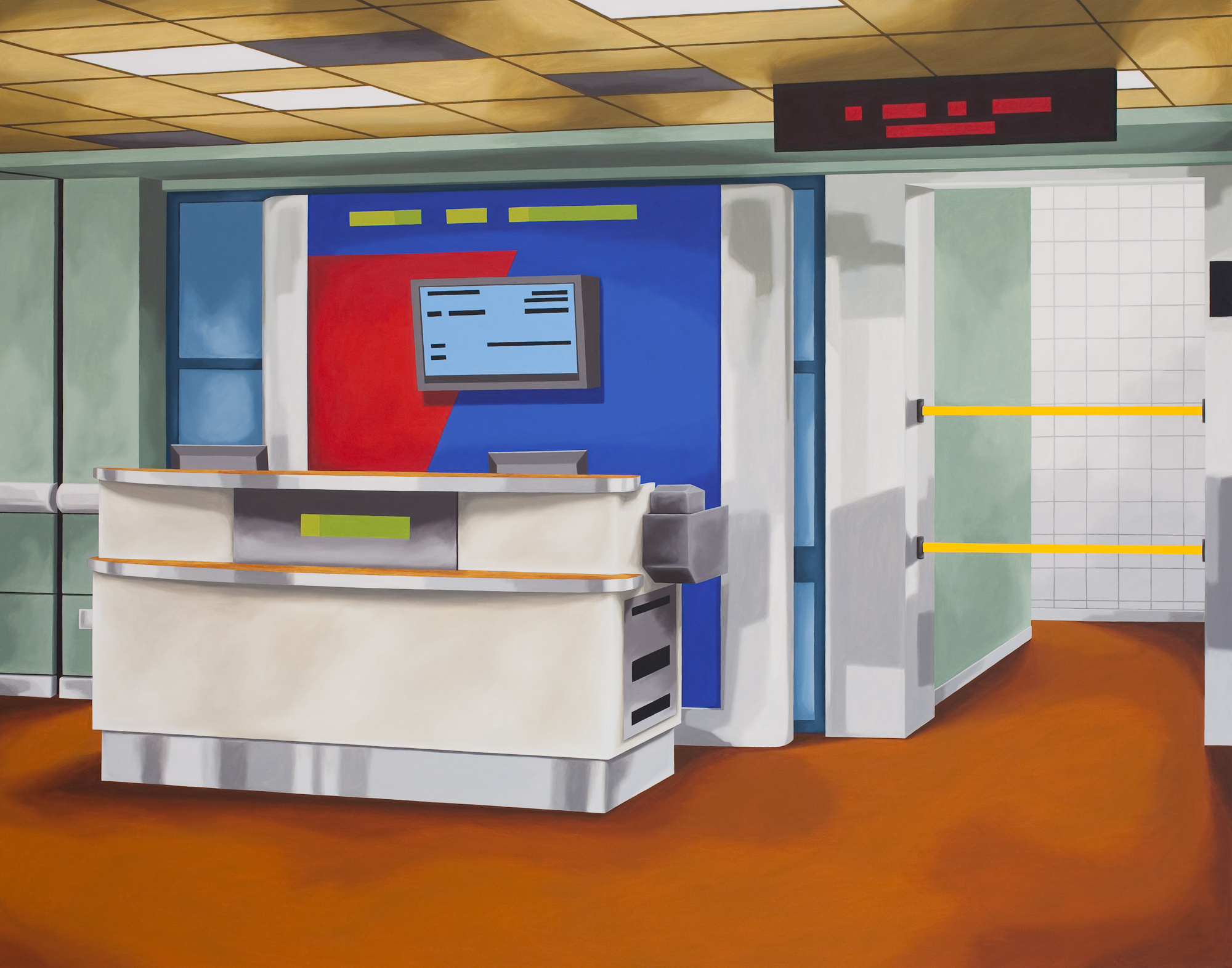 Gate A, 2011, Oil on Canvas, 52 X 66 inches