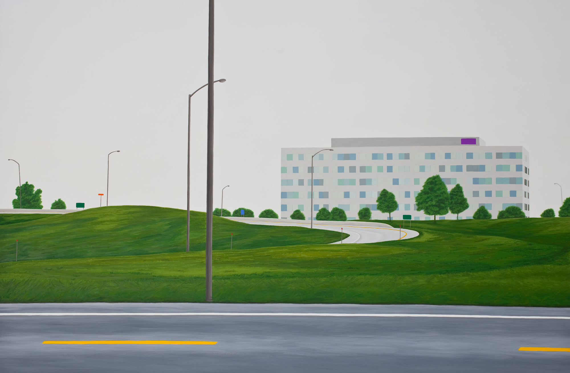 Places Where We Have Been #3, 2014, Gouache on Paper, 21 X 30 inches