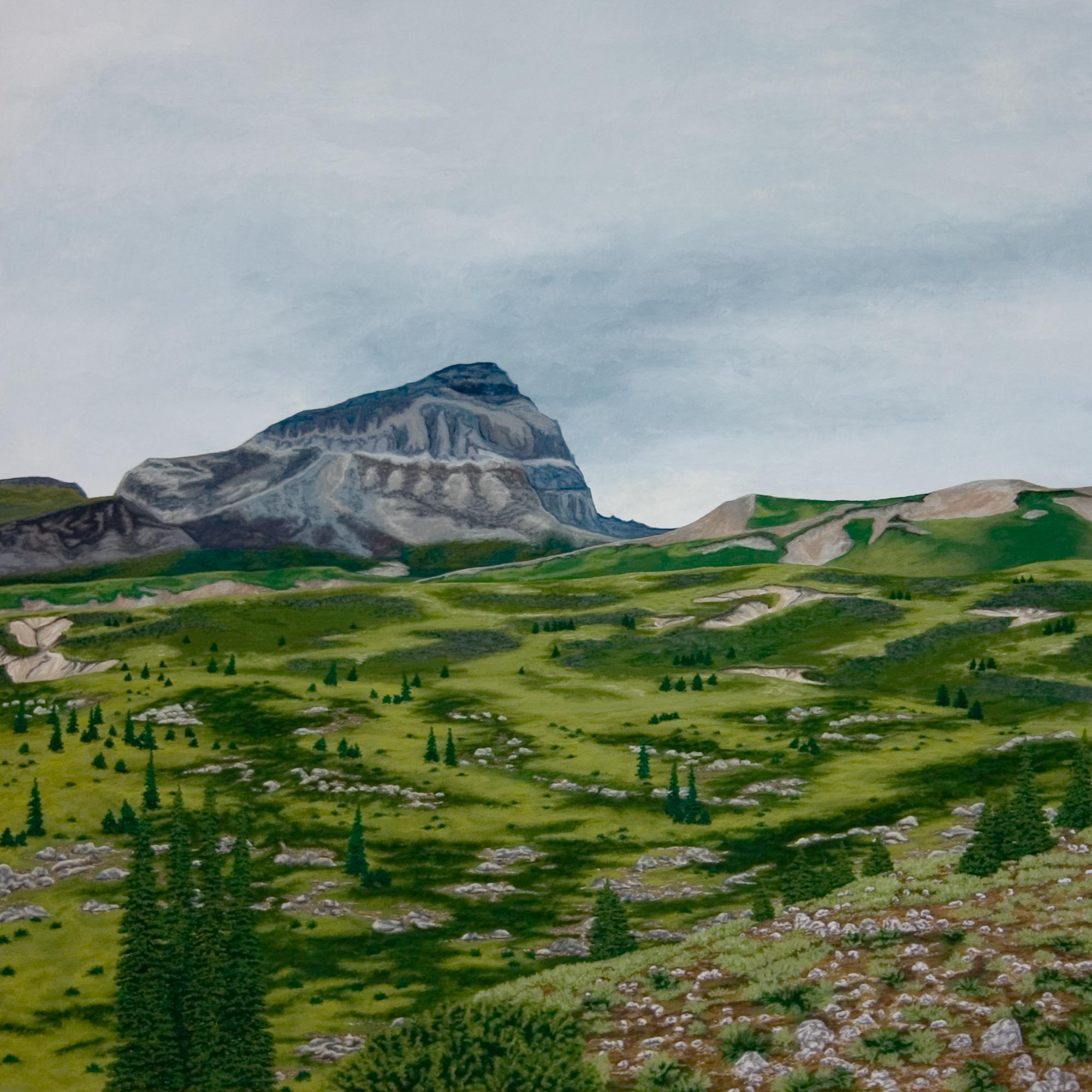 Alpine, 2006, Gouache on Paper, 15 X 15 inches