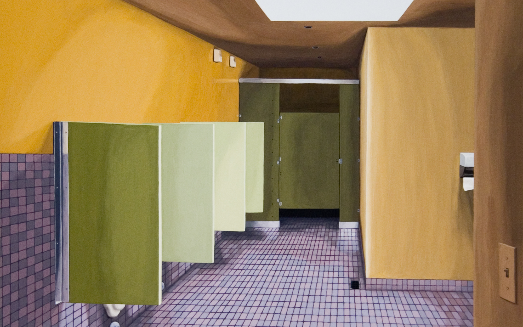 Bathroom #1, 2005, Gouache on Paper, 15 X 22 inches