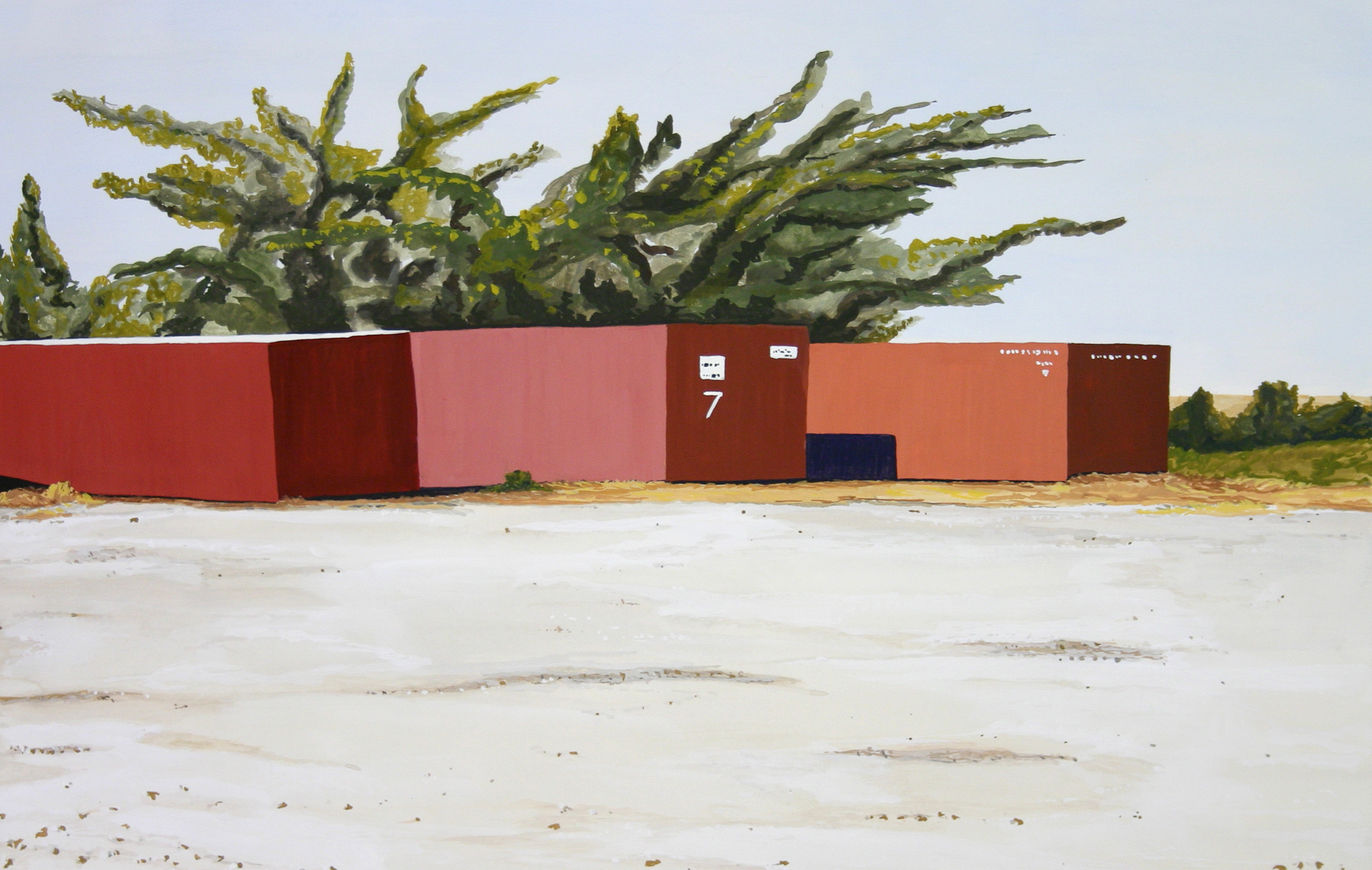 Go West Young Man #1, 2003, Gouache on Paper, 15 X 22 inches