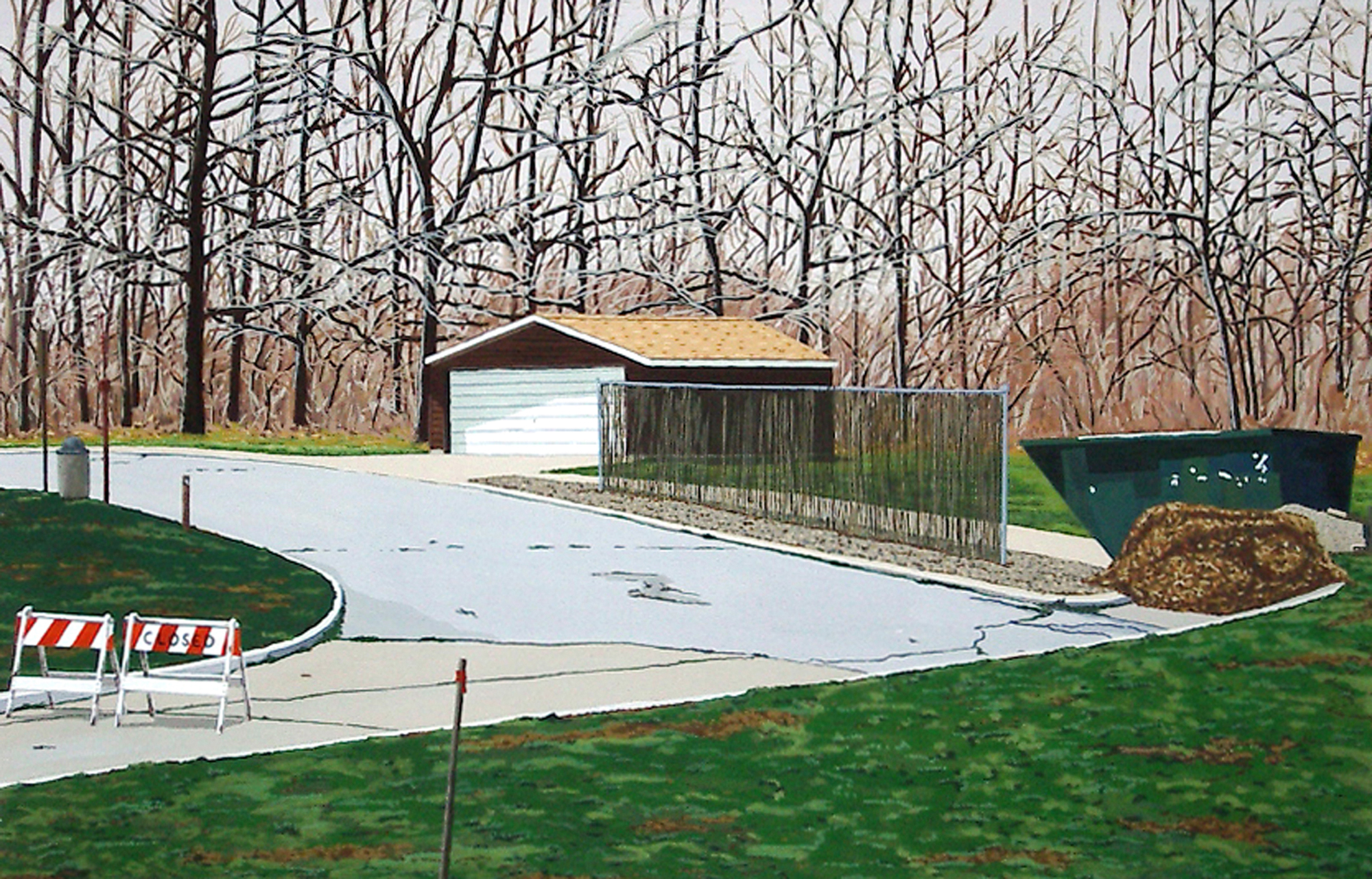 Go West Young Man #4, 2003, Gouache on Paper, 15 X 22 inches