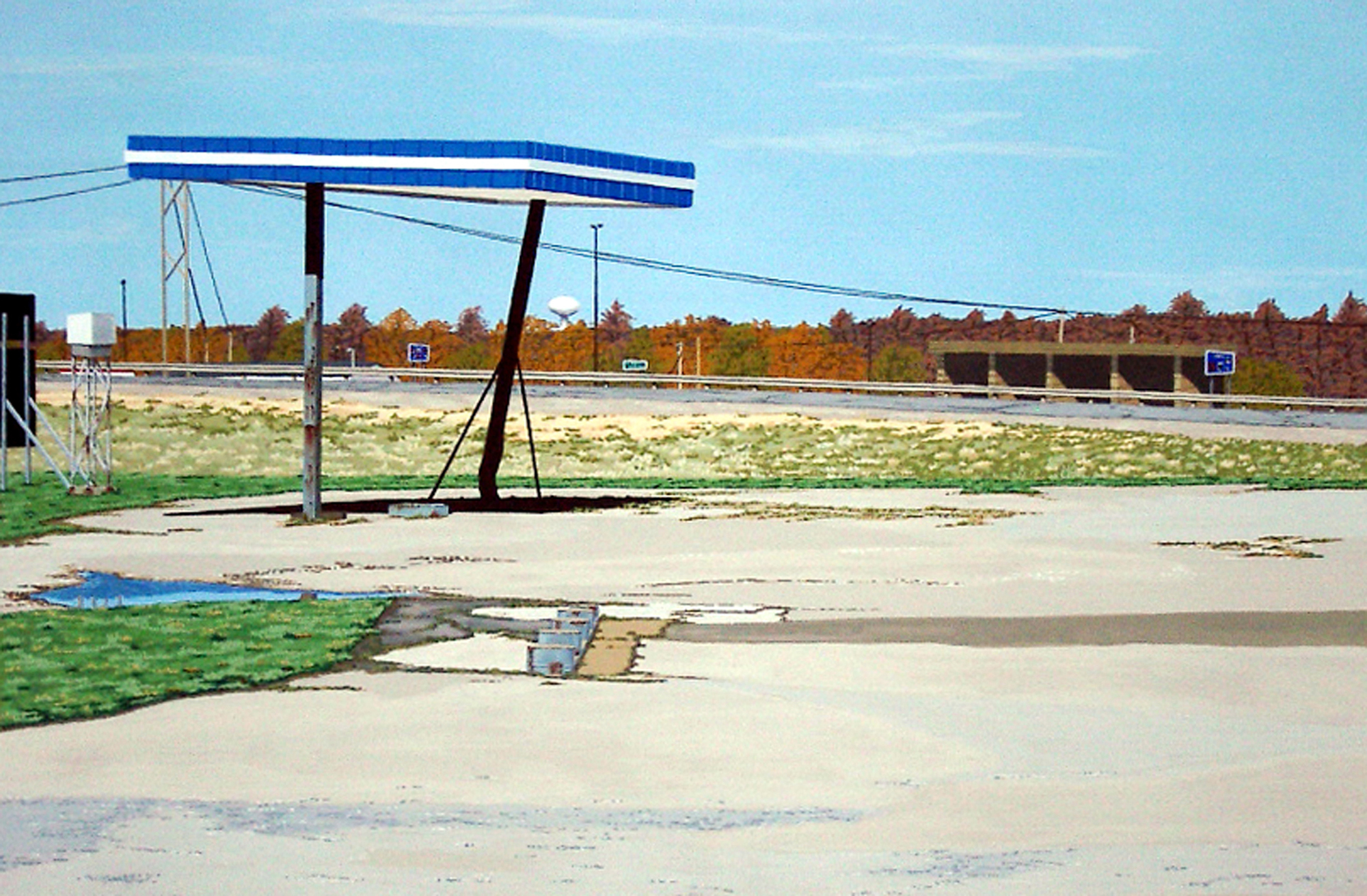 Go West Young Man #5, 2004, Gouache on Paper, 15 X 22 inches